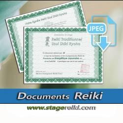 Attestation de stage Reiki, 2 fichiers JPEG